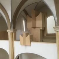 Modell 1:50 (aktuelle Orgel- & Emporenansicht)