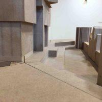 Modell 1:20 (Orgelansicht & Podiumspositionen)